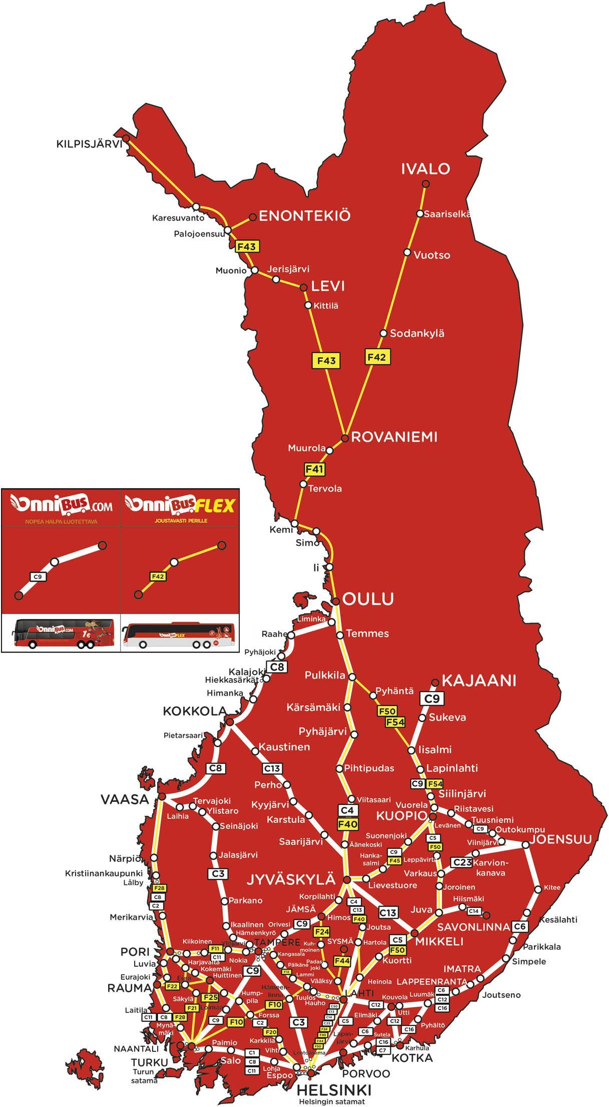 Bussit Kartalla Oulu